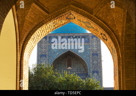 Architectural detail in ancient architecture. Usbekistan, Samarkand. - Stock Photo
