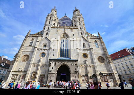 St. Stephen's Cathedral in Vienna - Stock Photo