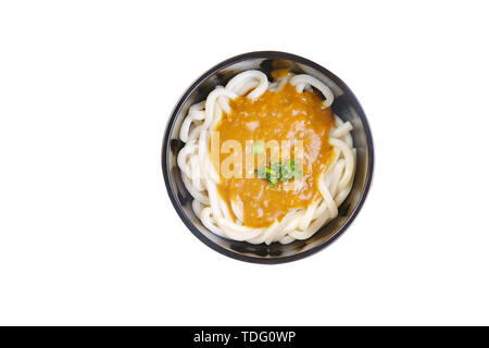 Butter, miso, barbecued ramen. - Stock Photo