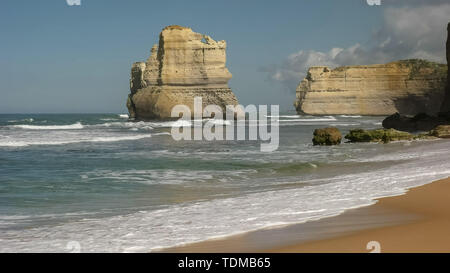 rock formation viewed from gibson's steps beach at the twelve apostle on the great ocean road - Stock Photo