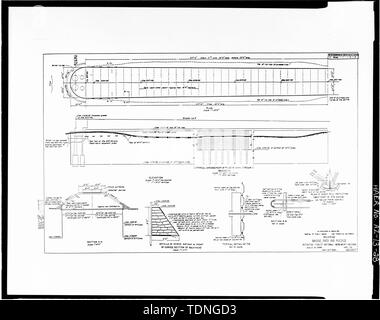 Photocopy of original construction drawing, dated April 1931, from original in possession of Federal Highway Administration Denver Colorado. SHEET 6- BULKHEAD. - Rio Puerco Bridge, Mainline Road, spanning Rio Puerco, Holbrook, Navajo County, AZ - Stock Photo