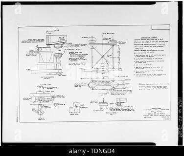 Photocopy of original construction drawing, dated February 1965, from original in possession of Federal Highway Administration, Denver Colorado. PIER -3 REPAIRS. - Rio Puerco Bridge, Mainline Road, spanning Rio Puerco, Holbrook, Navajo County, AZ - Stock Photo