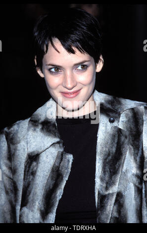 Nov 07, 2002; Los Angeles, CA, USA; File photo. 12/03/98. Oscar-nominated actress WINONA RYDER was found guilty of shoplifting charges on 11/06/02. A six-man, six-woman jury found her guilty of grand theft and vandalism but not guilty of commercial burglary. The 31-year-old star of 'Girl, Interrupted' was charged with grand theft, burglary and vandalism for allegedly stealing more than ,500 worth of merchandise from the Saks Fifth Avenue store on December 12, 2001. Ryder will return to court for sentencing on Dec. 6. Picture shows Winona at the 'Joan of Arc' premiere..  (Credit Image: Chris De - Stock Photo