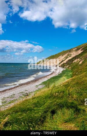 northeast coast of Samsoe Island in summer, Kattegat, Denmark, Samsoe, Maarup - Stock Photo