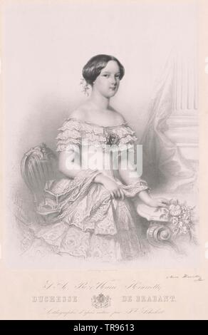 Marie Henriette, archduchess of Austria (1836-1902), Archduke, archdukes, Habsburg, Habsburg Lorraine, Austria, 19th century, people, half-length, half length, woman, women, female, 20th century, 1900s, archduchess, archduchesses, Additional-Rights-Clearance-Info-Not-Available - Stock Photo