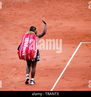 Paris, France. 1st June, 2019. Serena Williams from the United States during her 3rd lost at the 2019 French Open Grand Slam tennis tournament in Roland Garros, Paris, France. Frank Molter/Alamy Live news - Stock Photo