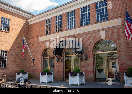 The National Baseball Hall of Fame and Museum in Cooperstown, New York, USA. - Stock Photo