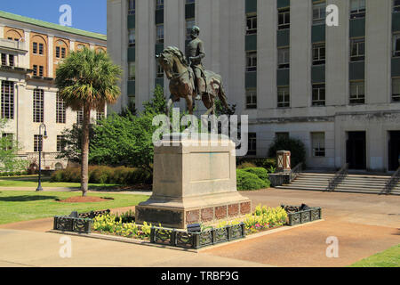 The Wade Hampton monument memorializes one of South Carolina's most prominent governors and military leaders of the American Civil War - Stock Photo