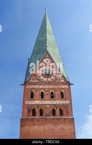 Church of John the Baptist or Johanniskirche in Luneburg. Germany - Stock Photo