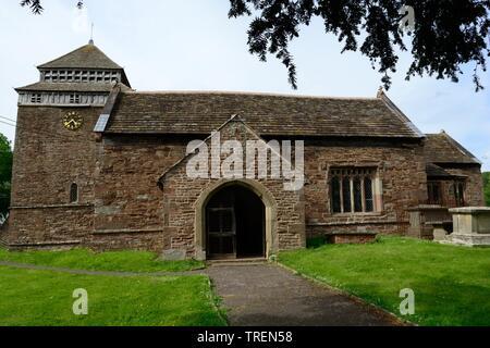 St Bridgets Church Skenfrith grade 1 listed building medieval origin Monmouthshire Wales cymru UK - Stock Photo