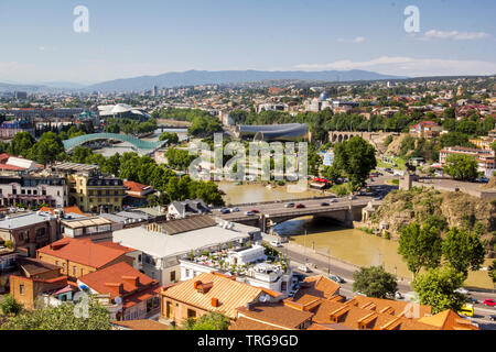 Panoramic View Of Tbilisi, Georgia - Stock Photo