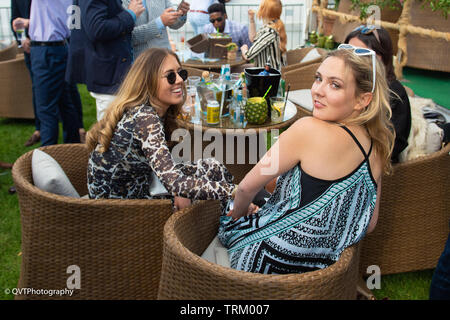 London, UK. 8th June, 2019, Made in Chelsea's Amelia Mist at Chestertons polo in the park 2019,   Credit: Quan Van/Alamy Live News - Stock Photo