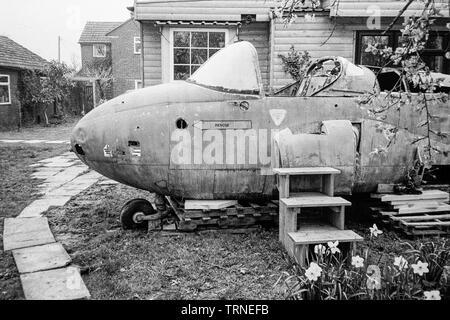 Jet provost trainer jet aircraft, Medstead, Alton, Hampshire, England, United Kingdom. - Stock Photo