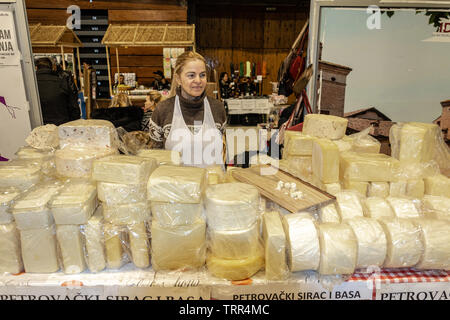 Selling cheese - Stock Photo