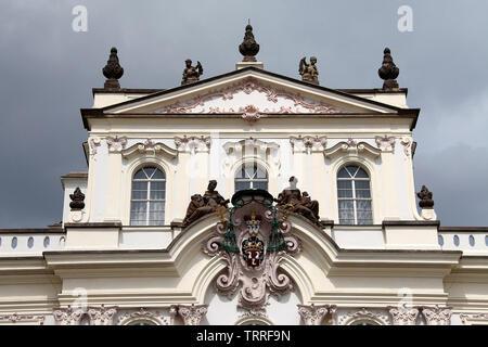 Archbishops Palace at Prague Castle Square - Stock Photo