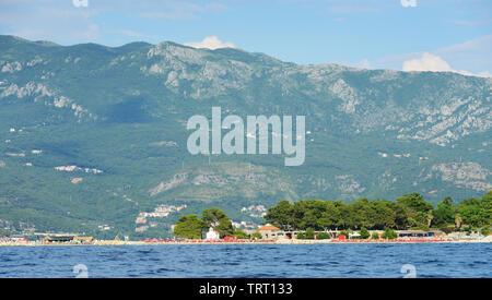 Sveti Nikola Island near Budva, Montenegro. - Stock Photo
