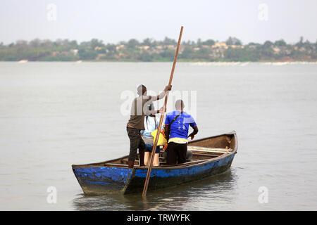 Canoe on the lake Togo. Togoville. Togo. Afrique de l'Ouest - Stock Photo