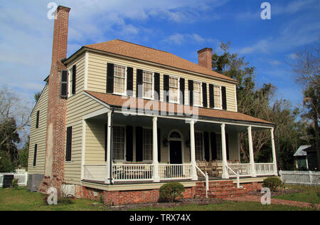 The John Floyd home belonged to a prominent Georgia politician and is one of the oldest structures in the St. Marys Historic District - Stock Photo