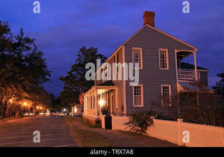 The historic Clark Home in St. Marys, GA, is famous for serving as Aaron Burr's temporary hideout following his infamous dual with Alexander Hamilton - Stock Photo