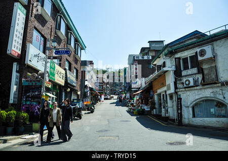 Seoul, Korea, 1st, May, 2013. Street view of Seoul. It's the capital and largest metropolis of South Korea. - Stock Photo