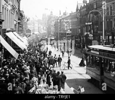 Mafeking Day, Lord Street, Liverpool - Stock Photo