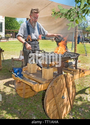 Pioneer Days small town annual celebration in North Central Florida. - Stock Photo