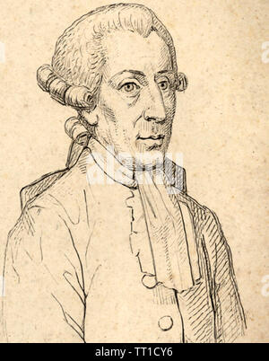 JEAN SYLVAIN BAILLY (1736-1793) French astronomer and mathematician - Stock Photo