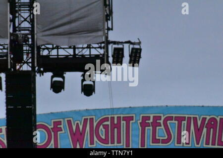 Newport, Isle of Wight, June  16  2019: Spot Lights at Main Stage, Isle of Wight Music Festival 2019. - Stock Photo