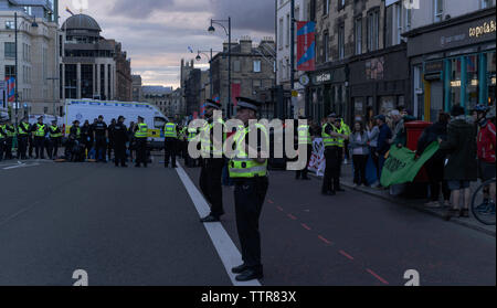 Climate extinction rebellion action, June 17th  2019 in Edinburgh, Scotland, UK - Stock Photo