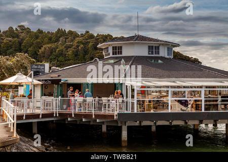 Seaside Cafe, Paihia, The Bay Of Islands, North Island, New Zealand - Stock Photo