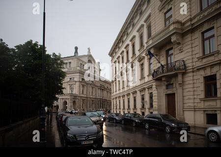 Liechtenstein city palais - Stock Photo