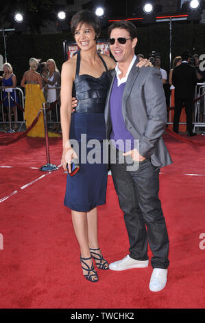 LOS ANGELES, CA. August 11, 2008: Tom Cruise & wife Katie Holmes at the Los Angeles premiere of 'Tropic Thunder' at the mann Village Theatre, Westwood. © 2008 Paul Smith / Featureflash - Stock Photo