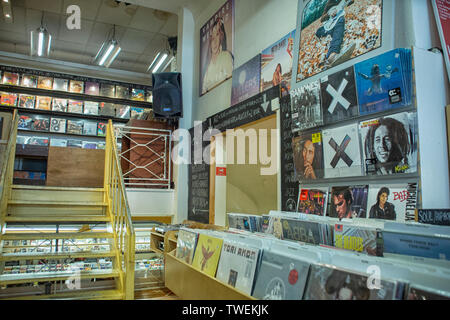 Record store Plato in Groningen, The Netherlands - Stock Photo