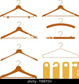 Vector illustration. Hanger and door do not disturb signal in clean style. Isolated. - Stock Photo