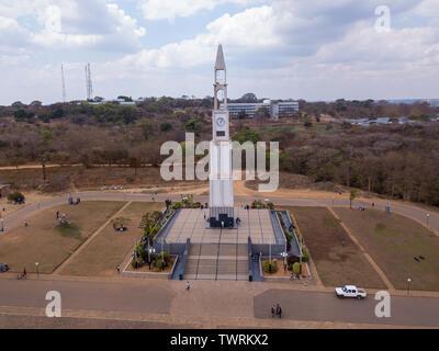 Kamuzu Hastings Dr Banda's monument in Lilongwe, Malawi - Stock Photo