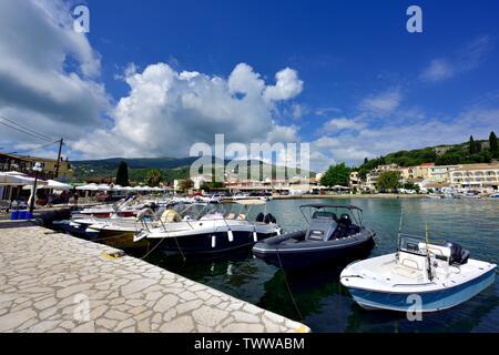 Leisure boats,Kassiopi bay,Kassopaia,Ionian Islands, Corfu ,Greece - Stock Photo