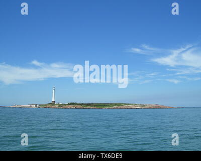 'Isla de Lobos vista desde su cara N, frente a Punta del Este, en Uruguay.; 23 February 2008; Own work; Uruguayo-92; ' - Stock Photo