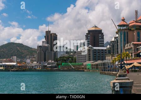 City of Port Louis, capital of Mauritius - Stock Photo