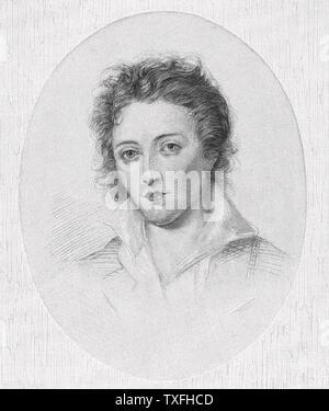 PERCY BYSSHE SHELLEY (1792-1822) English Romantic poet - Stock Photo