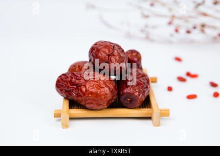 Dried fruit jujube and field jujube big red jujube - Stock Photo