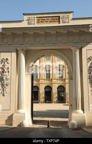 Entrance gate of Palais Liechtenstein, Vienna - Stock Photo