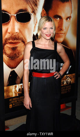 Actress Jaime King, one of the stars of the new film 'Two for the Money', arrives for the film's premiere in Beverly Hills September 26, 2005. The film also stars Al Pacino, Matthew McConaughey and Rene Russo and is about a former college football star who suffers a career-ending injury and aligns himself with one of the most renowned bookies in the sports-gambling business. The movie opens October 7 in the United States.   (UPI Photo/Jim Ruymen) - Stock Photo