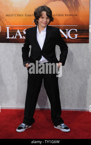 Bobby Coleman, a cast member in the motion picture drama 'The Last Song', attends the premiere of the film at the Arclight Cinerama Dome in Los Angeles on March 25, 2010.     UPI/Jim Ruymen - Stock Photo