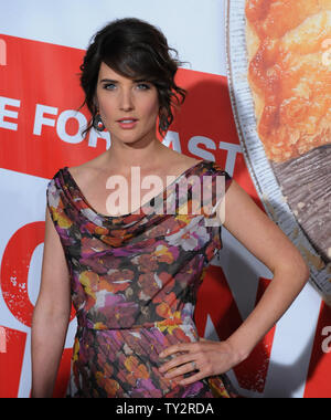 Actress Cobie Smulders attends the premiere of the motion picture romantic comedy 'American Reunion', at Grauman's Chinese Theatre in the Hollywood section of Los Angeles on March 19, 2012.  UPI/Jim Ruymen - Stock Photo