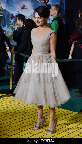 Actress Mila Kunis, a cast member in the motion picture adventure fantasy' 'Oz The Great and Powerful'', attends the premiere of the film at El Capitan Theatre in the Hollywood section of Los Angeles on February 13, 2013.  UPI/Jim Ruymen - Stock Photo