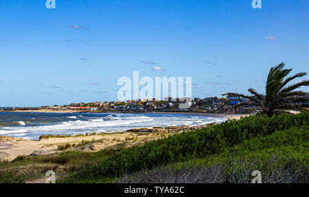 Beach Punta del Diablo Uruguay - Stock Photo