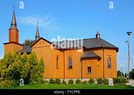 Holy Heart of Jesus church, Jeleniewo, Podlasie, Poland - Stock Photo