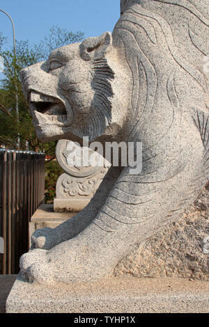 chinese temple (Ho Kang temple) in Vientiane (Laos) - Stock Photo
