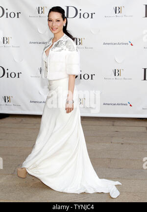 Lucy Liu arrives on the red carpet at the American Ballet Theatre Opening Night Spring Gala the Metropolitan Opera House at Lincoln Center in New York City on May 13, 2013.    UPI/John Angelillo - Stock Photo