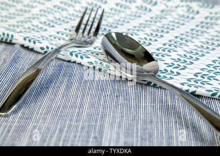 Close-up of Western food cutlery still life - Stock Photo